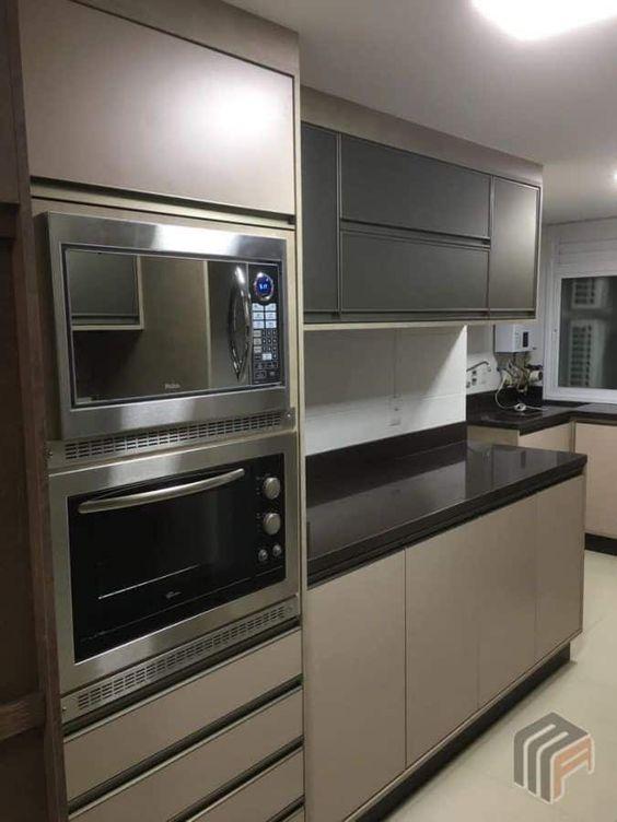 microondas espelhado - microondas embutido em cozinha