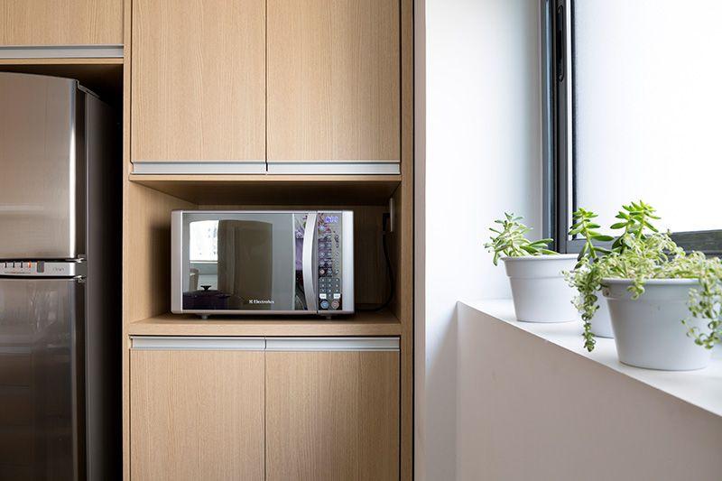 microondas espelhado - nicho para microondas