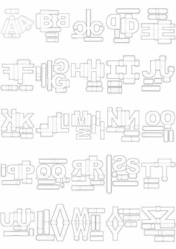 Moldes de letras 3D