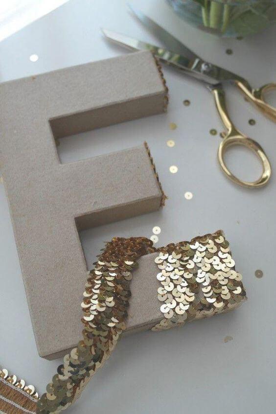 moldes de letras com paetês