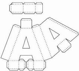 Molde de letras 3D