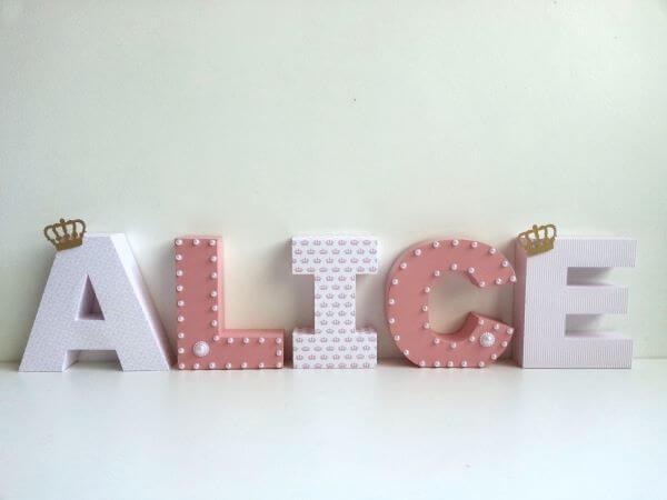moldes de letras em 3D
