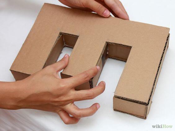 Moldes de letras 3D e papelão para decorar casa