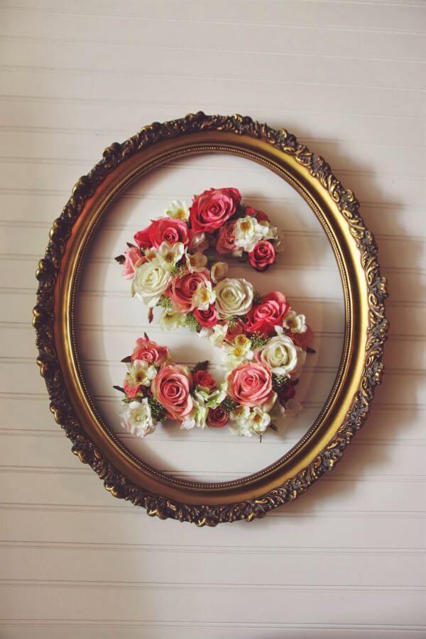 Moldes de letras com flores