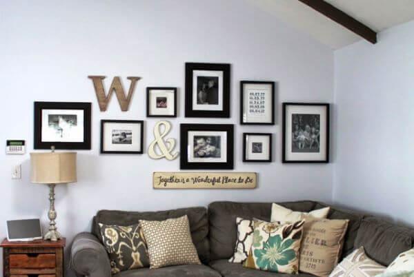 moldes de letras com quadros decorativos