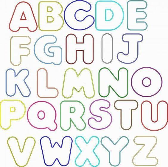 Moldes de letras para EVA