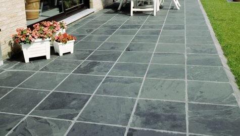 Pedra ardósia cinza