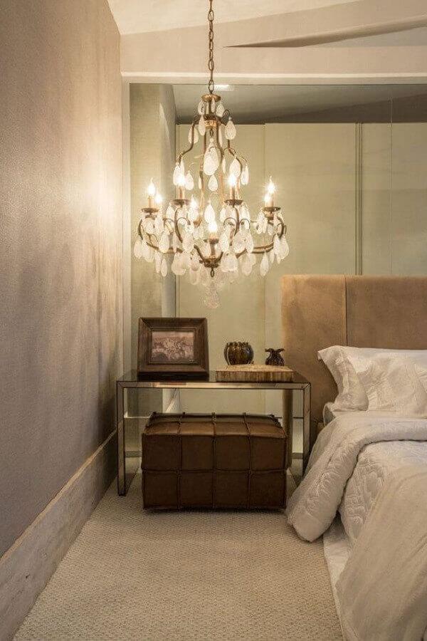 pendente de cristal para quarto com formato candelabro Foto No Decora