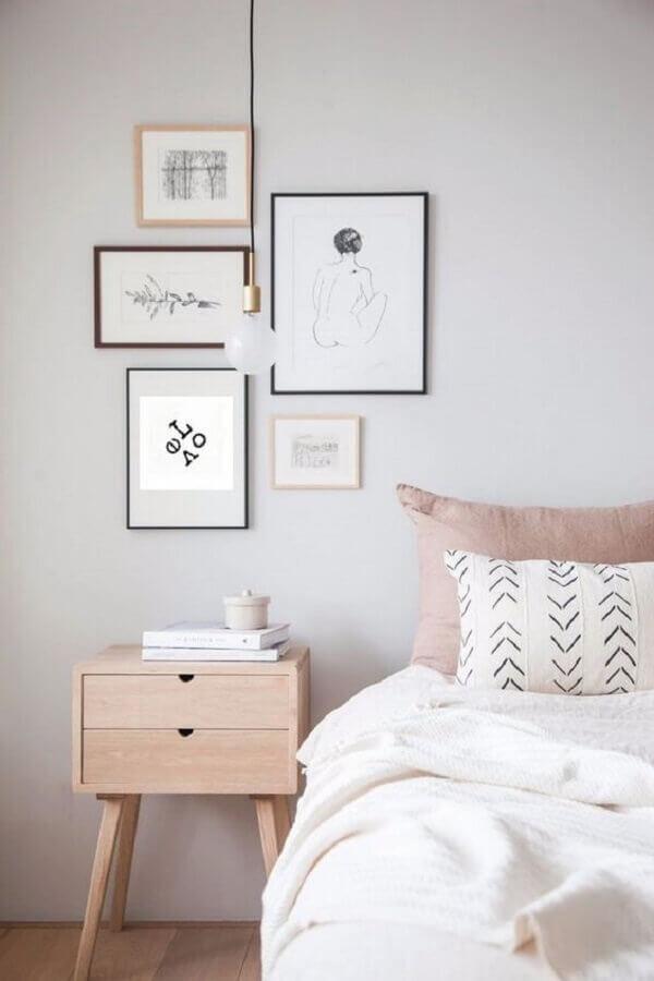 pendente para quarto com decoração minimalista Foto Pinterest