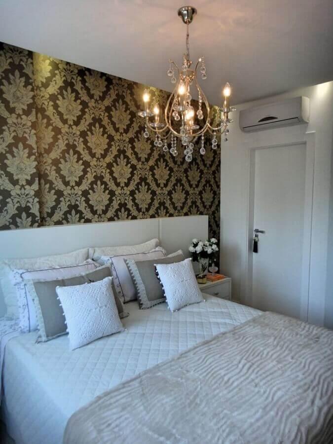 pendente para quarto de casal com estilo clássico Foto Gabriela Herde