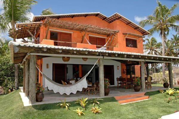 Pinturas de casas laranja para casa no campo