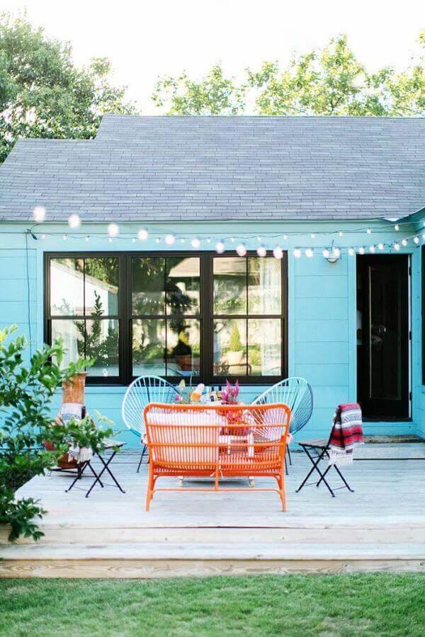 pinturas de casas coloridas