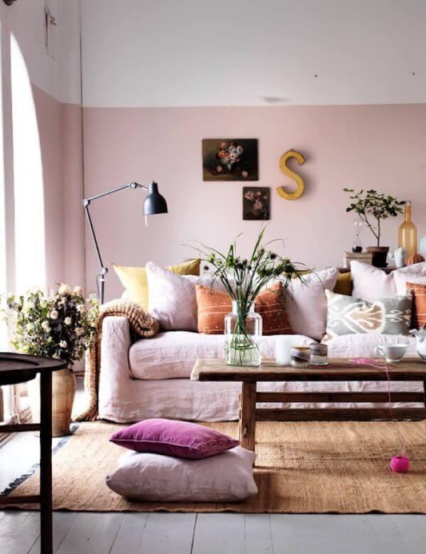 Pinturas de casas em tons claros para ambientes internos