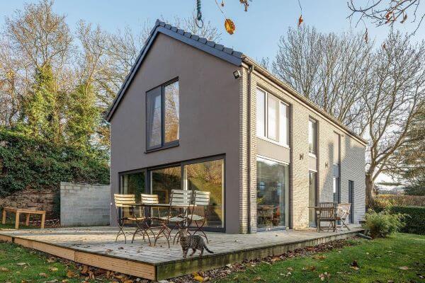 Pinturas de casas cinza