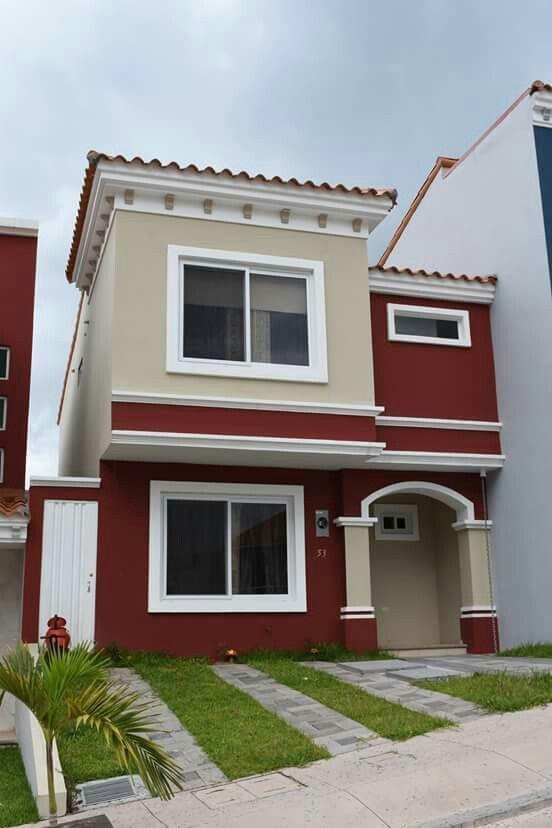 pinturas de casas com vermelho