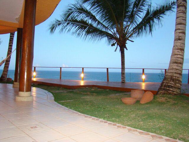 piso para varanda - área externa com vista para praia