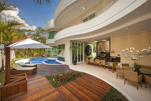 piso para varanda - varanda com deck e piso branco