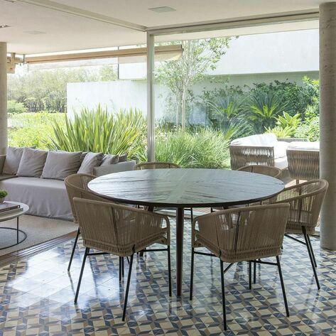 piso para varanda - varanda com piso de cerâmica decorada