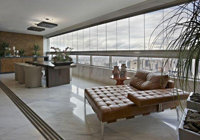 piso para varanda - varanda com piso de cerâmica simples