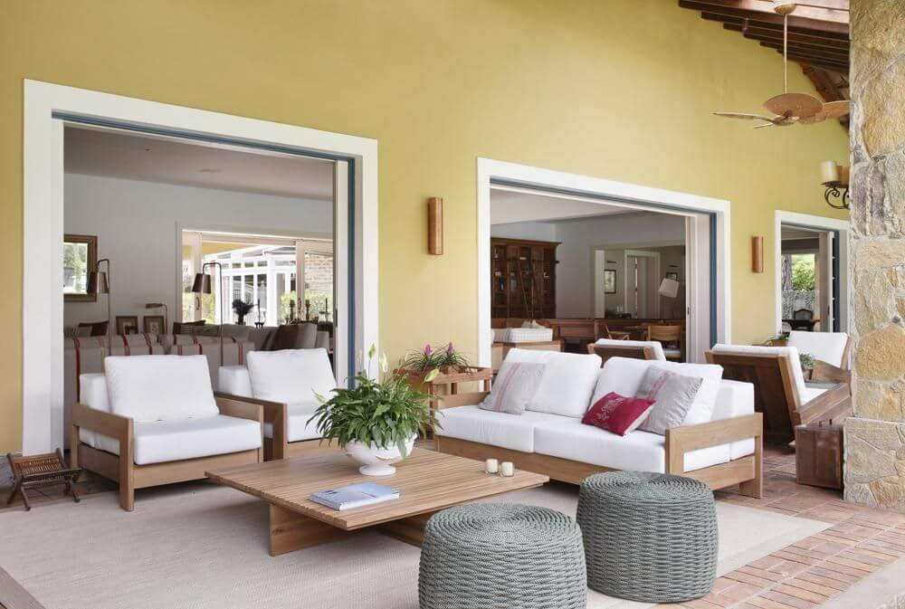 piso para varanda - varanda com piso de taco
