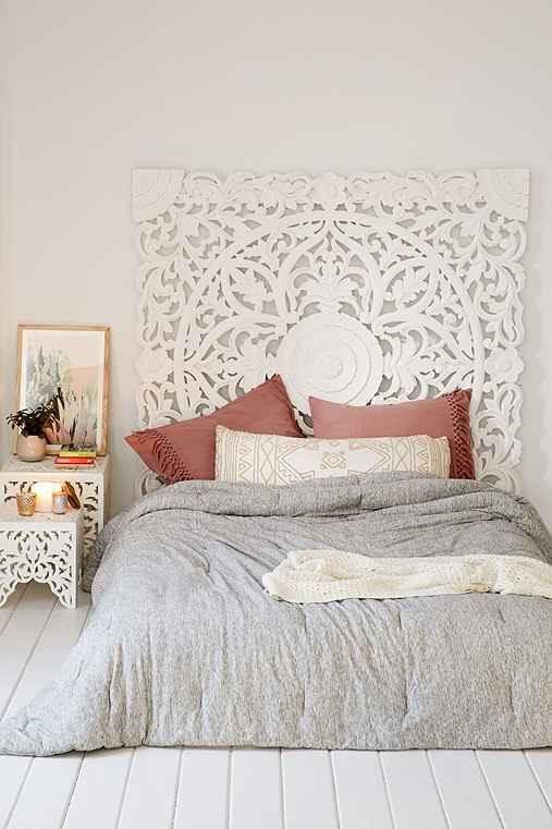 Pisos para quarto de madeira na cor branca