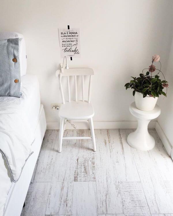 Pisos para quarto de madeira rústica