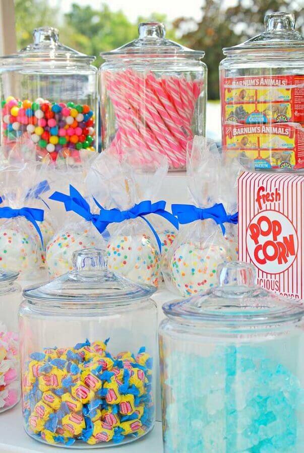 potes de vidro para mesa de guloseimas Foto Mary Had a Little Party