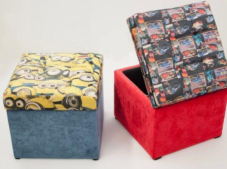 puff quadrado - puffs quadrados coloridos