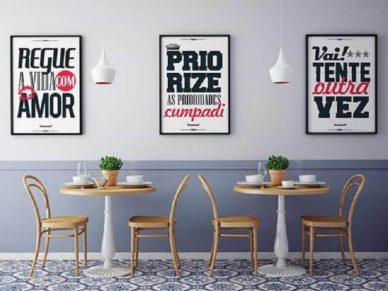 quadros decorativos com frases Foto Enquadrarte