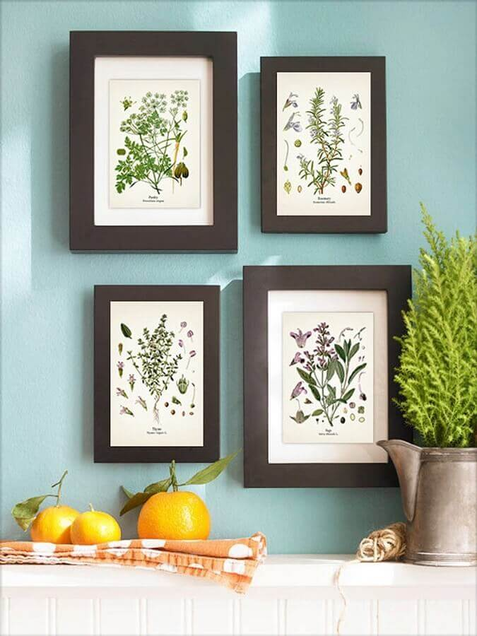 quadros decorativos com moldura preta Foto Casa e Construção