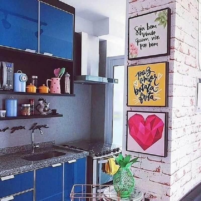 quadros decorativos para cozinha com decoração colorida Foto Decoração de Casa