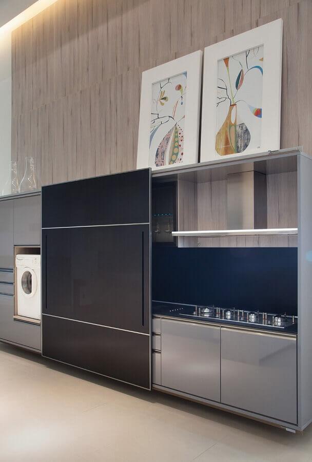 quadros decorativos para cozinha moderna planejada Foto Clique Arquitetura