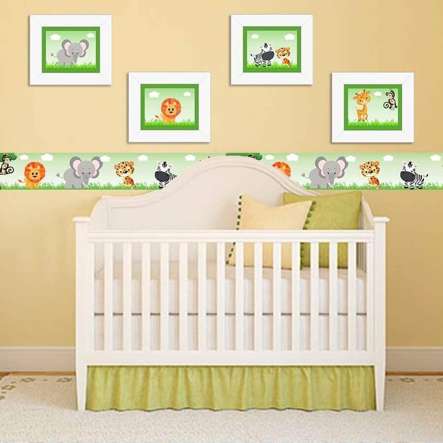 quadros decorativos para quarto de bebê com estampa de animaizinhos Foto Pinterest