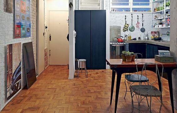 sinteco - cozinha com piso de taco