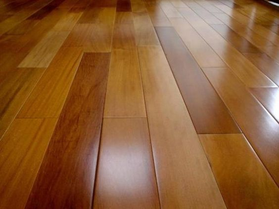sinteco - piso de taco com verniz