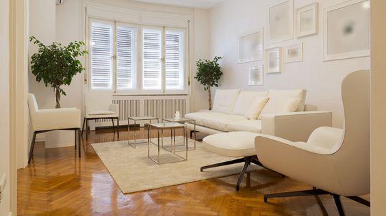 sinteco - sala de estar clássica com piso com sinteco aplicado