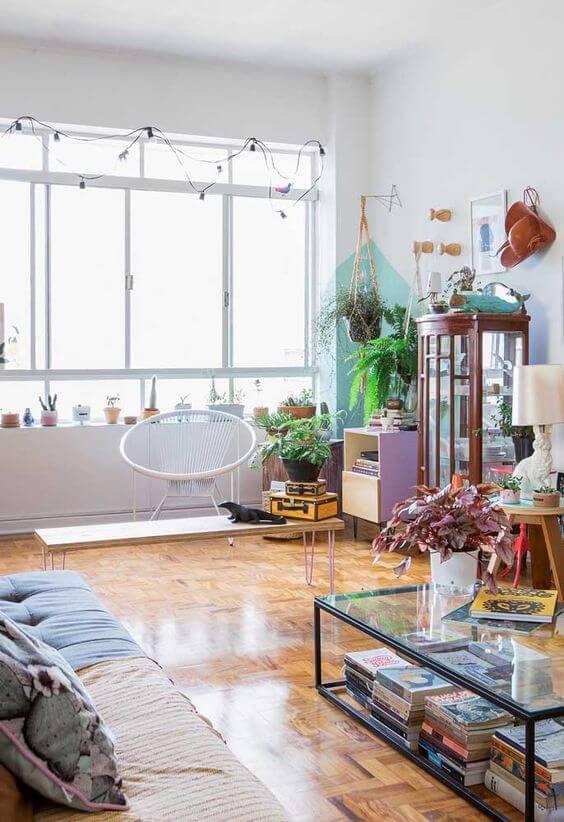 sinteco - sala de estar com piso de taco