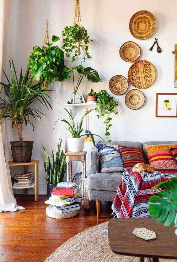 sinteco - sala de estar com piso de taco aplicado