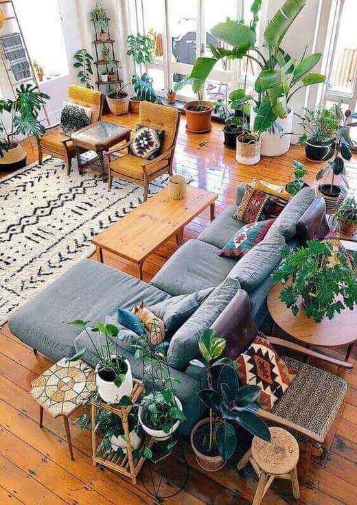 sinteco - sala de estar com piso em madeira com sinteco