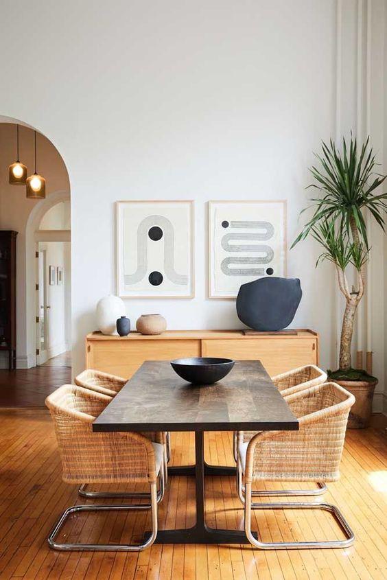 sinteco - sala de jantar com piso de madeira