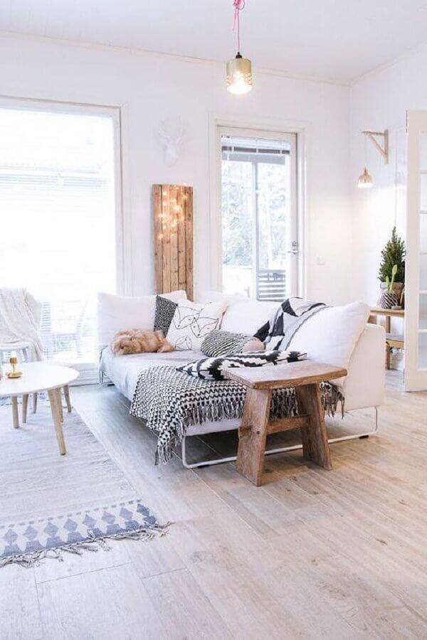 sofá branco para decoração de sala estilo escandinavo Foto Futurist Architecture