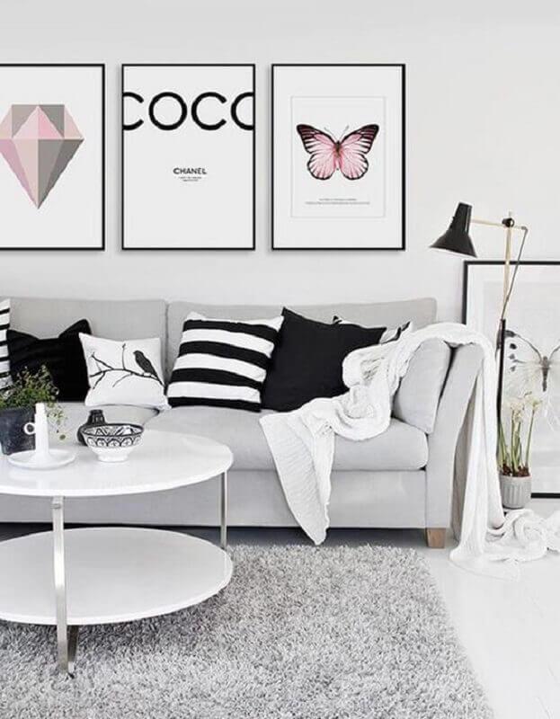 tapete cinza claro para decoração de sala minimalista Foto Original Arquitetura e Paisagismo