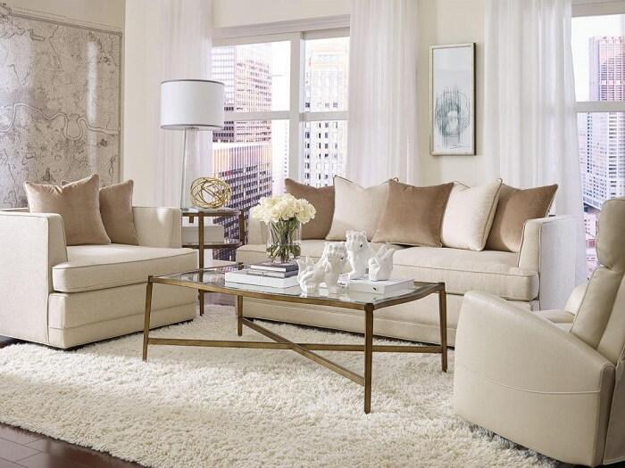 Tecido para sofá chenille bege se harmonizam com a decoração do ambiente