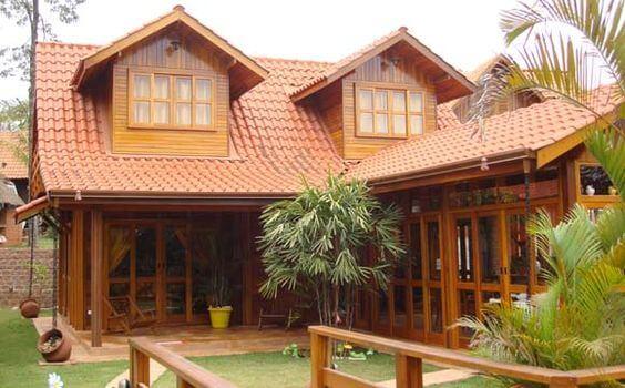 Use a telha colonial para ter um telhado resistente