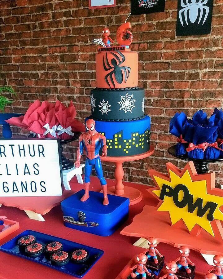 tema de aniversário para menino homem aranha Foto Relicário Festas