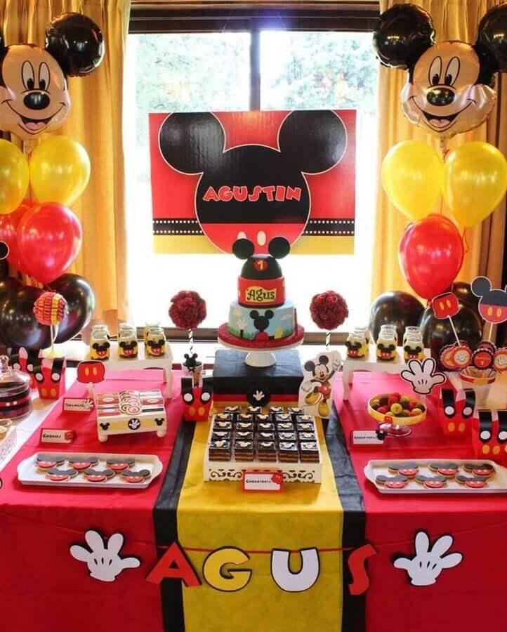 tema festa do mickey para festa de aniversário Foto Pinterest