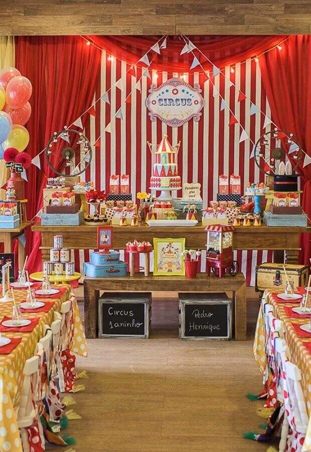 temas de festa de aniversário circo Foto Pinterest
