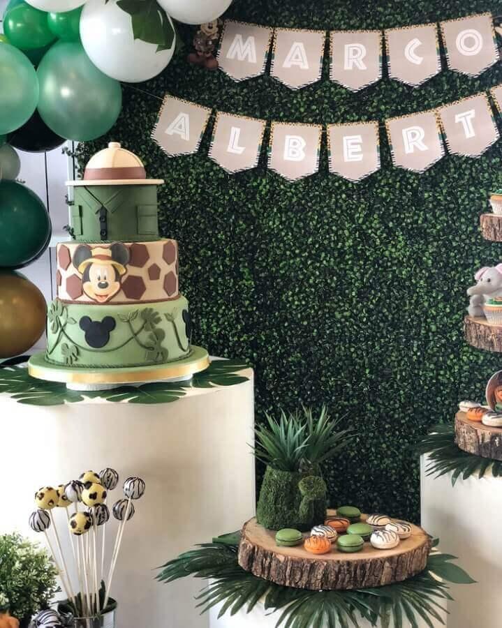 temas de festa de aniversário - mickey safári Foto Blamc Rentals