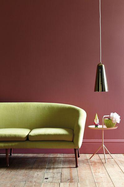 sofá verde claro