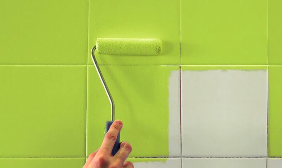 Tinta para azulejo de banheiro verde